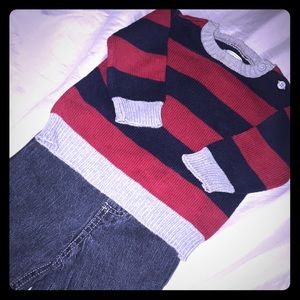 Boys 12-18 M Sweater and Jeans Set